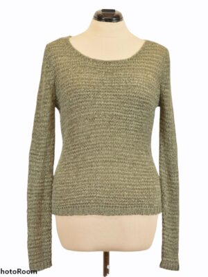 Khakiroheline võrkkoes sviiter