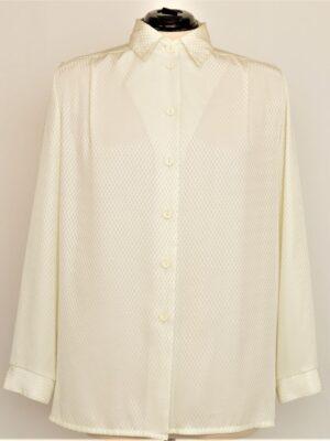 Läikiv valge vintage pluus