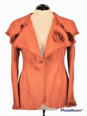 Laia kraega oranž villane jakk